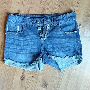 Jeweled cuff shorts